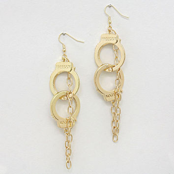 Metal Chain Handcuff Earrings