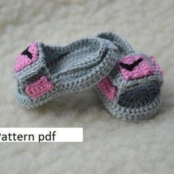 ONETOW CROCHET PATTERN -Nike Air Jordan 3 sandals hydro 3 Crochet Baby Booties pattern