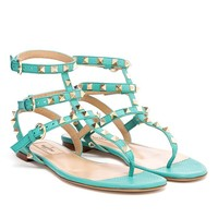 VALENTINO | Rockstud Grained Leather Sandals | Browns fashion & designer clothes & clothing
