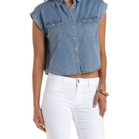 Chambray Shirt by Charlotte Russe