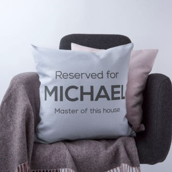 'Master Of The House' Cushion Cover