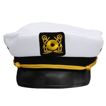 2017 New Unisex White Vintage Skipper Sailors Navy Captain Boating Military Hat Cap Adult Party Fancy Dress Cosplay Hat AQ874923
