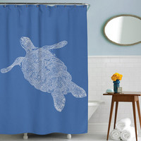 Elegant Turtle, Shower Curtain