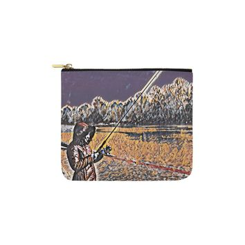 Levi Thang Fishing Design 3 Carry-All Pouch 6''x5''
