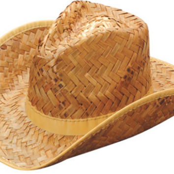 Tan Woven Straw Rolled Cowboy Hat Case Pack 19