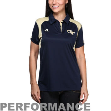 Russell Georgia Tech Yellow Jackets Ladies 2013 Sideline Performance Polo - Navy Blue - http://www.shareasale.com/m-pr.cfm?merchantID=7124&userID=1042934&productID=522514082 / GA Tech Yellow Jackets