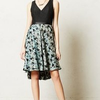 Merle Dress by Black Halo Made in Kind Green Motif