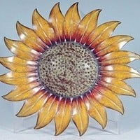 "Metal Decorative 14 "" Sunflower Wall Plaque"