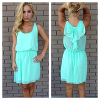 Mint Renee Sleeveless Bow Back Dress