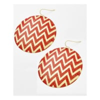 Chevron Glimmer Earrings