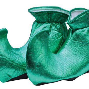 Elf Shoes Cloth Green for Christmas Party