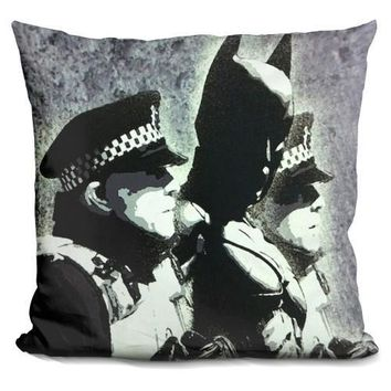 Batman And The Police Pillow