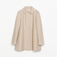 LINEN COAT WITH POCKETS