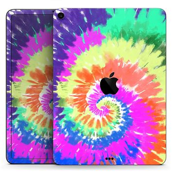 """Spiral Tie Dye V1 - Full Body Skin Decal for the Apple iPad Pro 12.9"""", 11"""", 10.5"""", 9.7"""", Air or Mini (All Models Available)"""