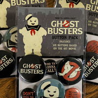 Ghostbusters Button Pack - 6 Buttons Based On The Hit Movie