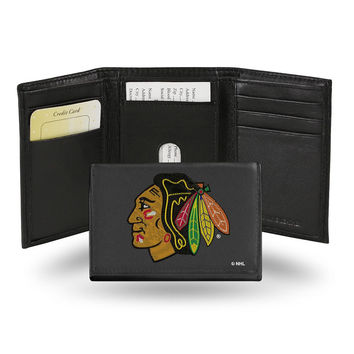 Chicago Blackhawks  Embroidered Trifold Wallet