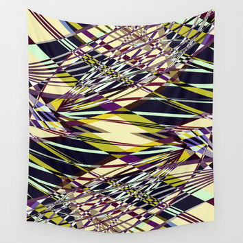 SWEEPING LINE PATTERN I-E2 Wall Tapestry by Pia Schneider [atelier COLOUR-VISION]