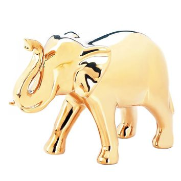 LARGE GOLDEN ELEPHANT FIGURINE