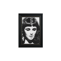 Cleopatra Elizabeth Taylor Black and White Print Framed Wall Hanging