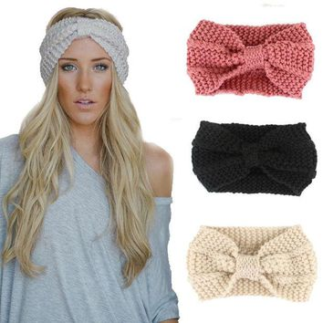 DCCKL3Z Norvin 20colors Fashion Women Headband Elastic Turban Knitti Wool Headband Ethnic Wide Stretch Girl Hair Accessories Winter 2016