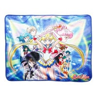 Sailor Moon Characters Sublimation Throw