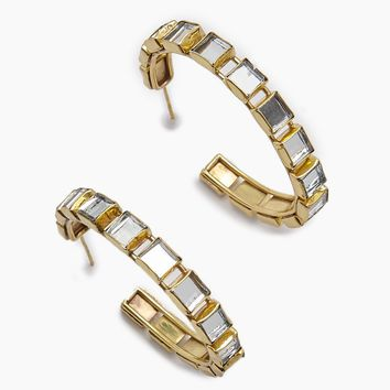 Destina Disco Mirrored Gold Hoop Earrings