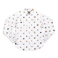 10 Deep: Signs & Symbols Button Down - White