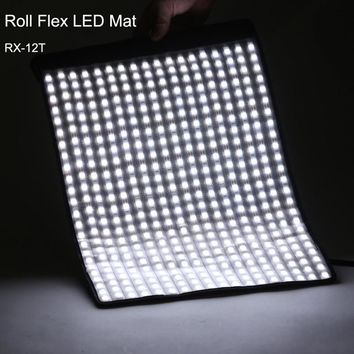 Falconeyes 34W Photo Waterproof Light Portable LED 5600K Photo Light 423pcs Flexible Roll LED Photography Lamp RX-12T