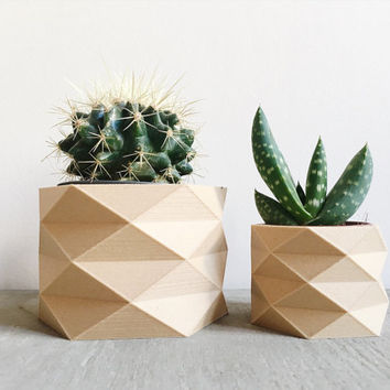 Geometric / Low poly planter, cacti and succulent ready !