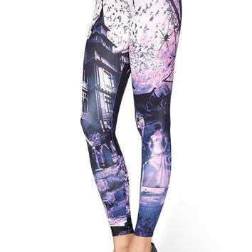 HAUNTED HOUSE PURPLE MF LEGGINGS - LIMITED