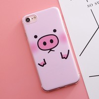 Silicone Case Pig Phone Cover For iPhone7 Plus 8 X 6s 5S 4 4S 5 SE 5C Case for Samsung Galaxy A3 A5 A7 A8 J1 J2 J3 J5 J7 2016 20