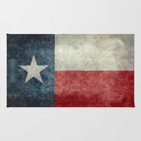 Texas state flag, Vertical retro vintage version Rug by LonestarDesigns2020 - Flags Designs +