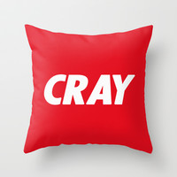 Cray Obey Throw Pillow by RexLambo