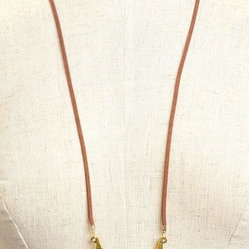 Long Bull Head Cow Crown Necklace