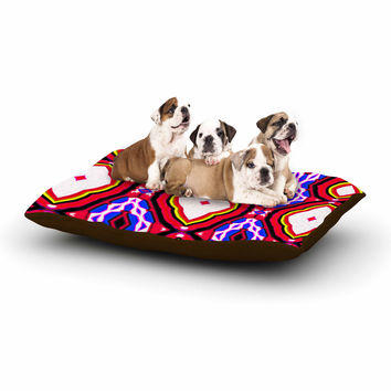 "Dawid Roc ""Inspired By Psychedelic Art 2""  Red Abstract Dog Bed"