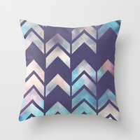 Chevron Dream 2 (Plum) Throw Pillow by Beth Thompson