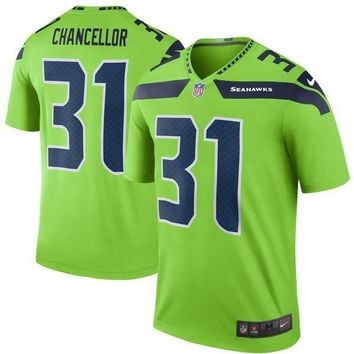 Men's Seattle Seahawks Kam Chancellor Nike Green Color Rush Legend Jersey