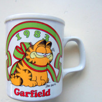 Vintage Garfield Christmas Coffee Mug 1983