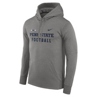 Nike Penn State Nittany Lions Charcoal 2017 Sideline Football DNA Circuit Therma Performance Pullover Hoodie