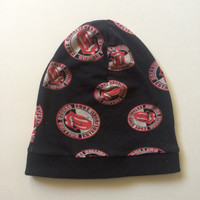 ROLLING STONES Child Slouchie Beanie - Upcycled Rock/Concert T-shirt