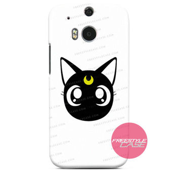 Sailor Moon Decal Luna Cat HTC One Case Cover Series