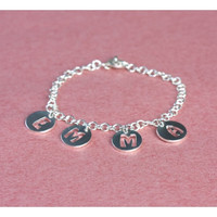 Handcrafted Personalized Name Bracelet - Name Bracelet - Gift For Best Friend - Sterling Silver
