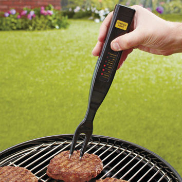 Meat Thermometer Grill Broil Bake Roast Doneness Indicator Light