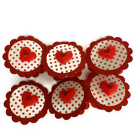 Polka Dotted Valentine Tags Valentine Gift Tags Scrapbook Tags
