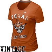 Nike Texas Longhorns Ladies Burnt Orange Vault Old-School Tri-Blend T-shirt