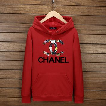 Day-First™ CHANEL Fashion Casual Long Sleeve Sport Top Sweater Hoodie Pullover Sweatshirt I-YSSA-Z