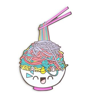 Rainbow Ramen Unicorn Enamel Pin