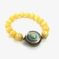 Indonesian Yellow Jade Bracelet