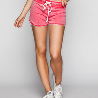 Celebirty Pink French Terry Womens Shorts Coral  In Sizes