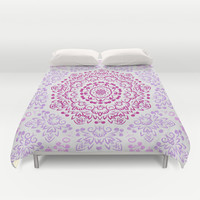 A Glittering Colorful Mandala 2 Duvet Cover by Octavia Soldani | Society6